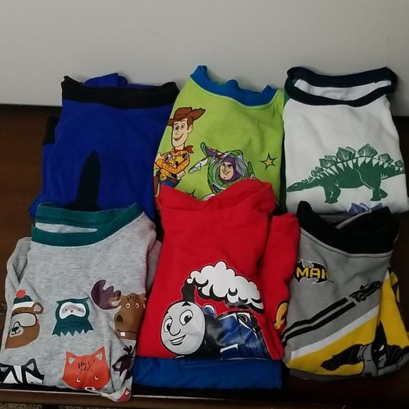 Bundle 4T Boys Long Pajama Sets 6 pairs